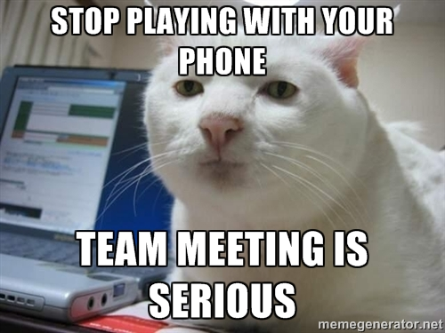 Cell-Phones-Work-Meeting